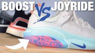 Nike JOYRIDE vs Adidas BOOST vs Nike REACT: COMPARISON
