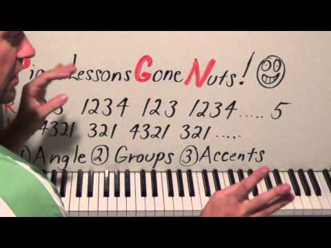 Piano Lessons Gone NUTS!  How To Play Scale Runs Faster And Easier!