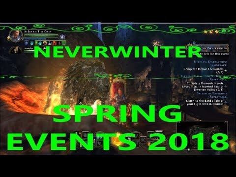 Awesome Spring Events!!! - Neverwinter 2018