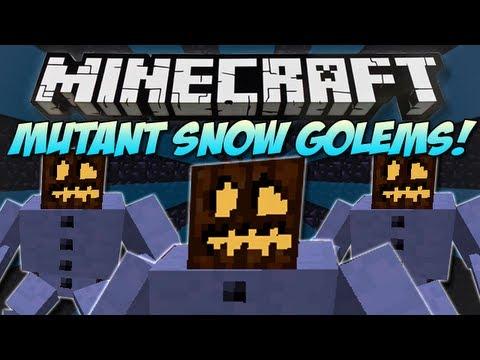 Minecraft | MUTANT SNOW GOLEM MOD! | They throw presents :3 [1.4.7]