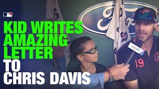 9-year-old writes heartwarming letter to Orioles' Chris Davis