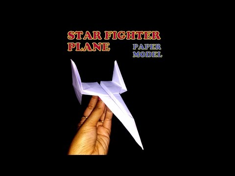 How to make a paper fighter airplane model of Star Fighter?