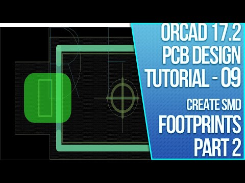 OrCAD 17.2 PCB Design Tutorial - 09 - Create a Custom Surface Mount Padstack (2 of 3)