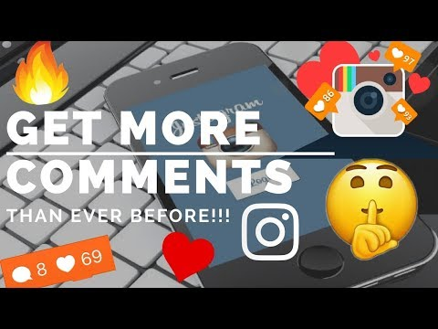 HOW TO GET MORE COMMENTS THAN EVER BEFORE ON INSTAGRAM!!