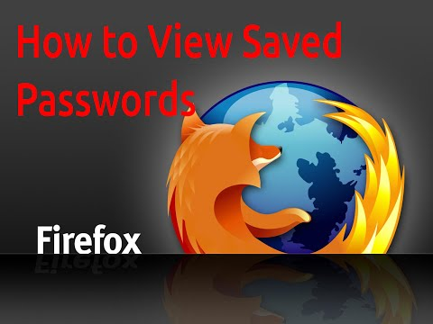 Firefox How to View Saved Password in Firefox 30.0 - Recover Firefox Passwords