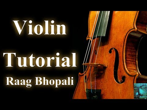 Instrument Tutorials   Raag Bhopali on Violin    Learn Violin Online   Divya Music
