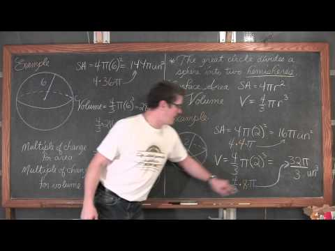 Surface Area of a Sphere & Volume of a Sphere