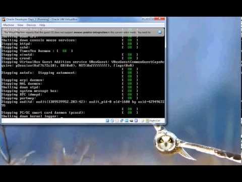 Shutting down the Oracle VM (silent)