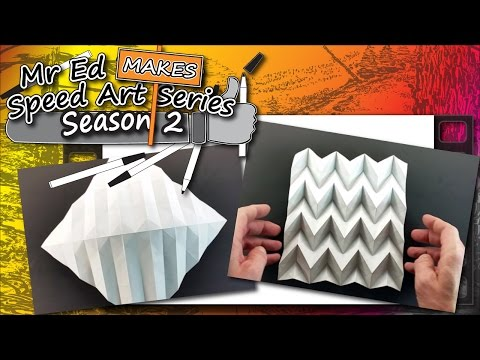 How To Make Faceted Paper Origami - Miura Fold - Mr Ed Makes