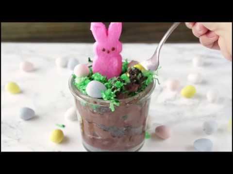 Easter Bunny Pudding Dirt Cups