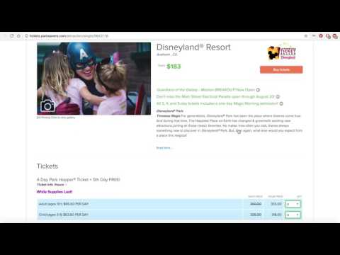 Buy Discount Disneyland Tickets