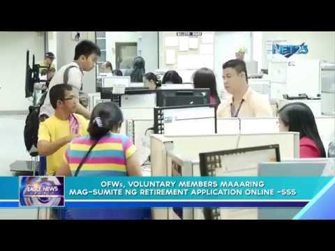 OFWs, voluntary members' maaaring mag-sumite ng retirement application online - SSS