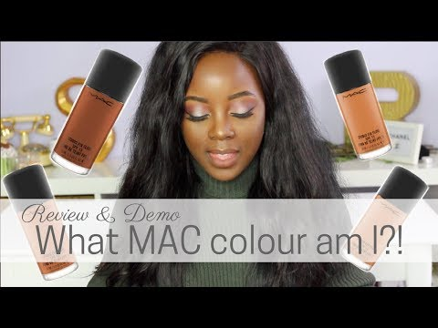 What MAC foundation colour AM I?! - Review & Demo | @rachaelnalumu