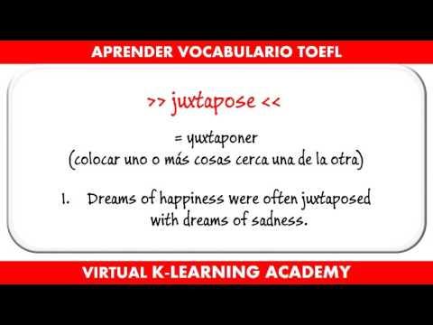 Preparación TOEFL # 6 - Aprender vocabulario Inglés avanzado