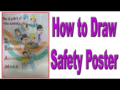 How to Draw Safety poster  2