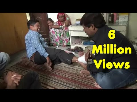 Amazing Chiropractor In India Fixing Ankle Sprains : Traditional Bone-Settler In Indian Village