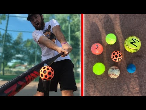HOW FAR CAN I HIT THESE BALLS? IRL BASEBALL CHALLENGE