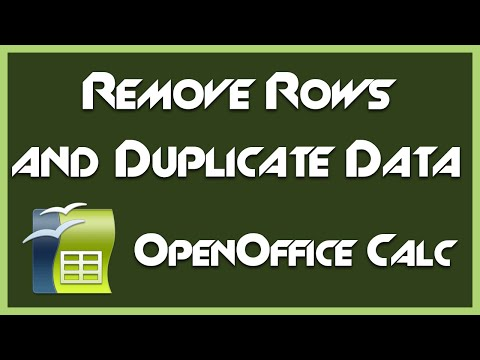 How to Remove Duplicate Data and Rows - Introduction to OpenOffice Calc 4.1.1