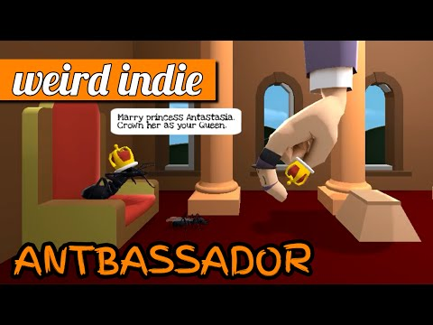 Antbassador gameplay: don't squash the ants! (PC game jam build)