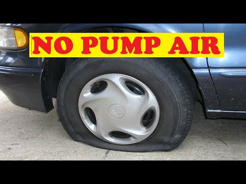 Air up any flat tire without a pump, Anywhere - With Only This Special Hose
