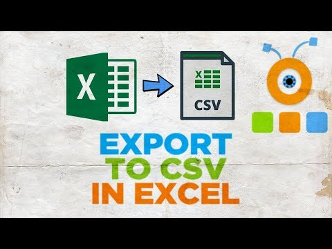 How to Export to CSV in Excel | How to Create a CSV File in Excel