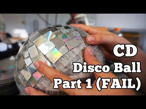 CD Disco Ball - Part 1 (FAIL) | Barb Makes Things #31