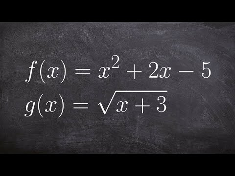 How to Apply the Composition of Two Functions Square and Square Root