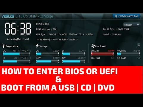 How to Enter BIOS or UEFI and Boot from a Flash Drive or a CD, DVD