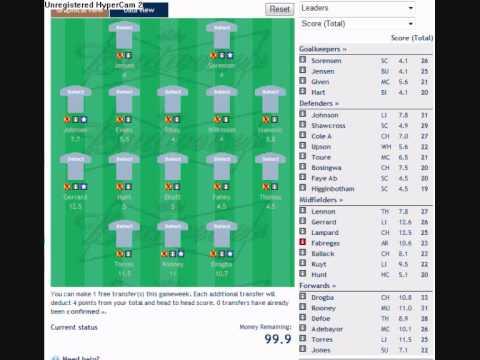 how to make a fantasy football / soccer team
