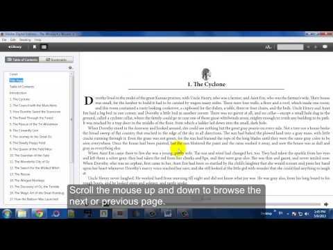 Using Adobe Digital Editions to Read EPUB eBooks