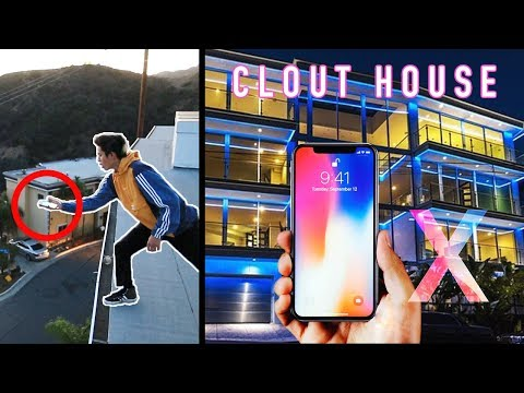 IPHONE X PHONE FLIP OFF CLOUT HOUSE ROOF