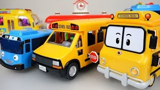 playing BUS  toys with Wheels On The Bus Nursery Rhymes