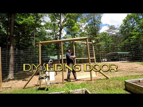 Sliding Barn Door style Garden Door