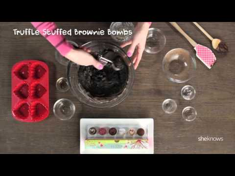 Making Truffle Stuffed Brownie Bombs with GODIVA and SheKnows