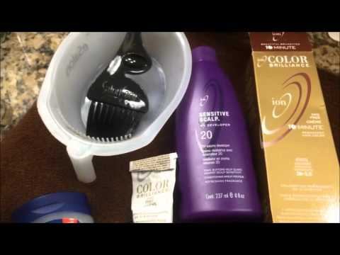Sensitive Scalp: What Products to use to color your hair professionally and save money