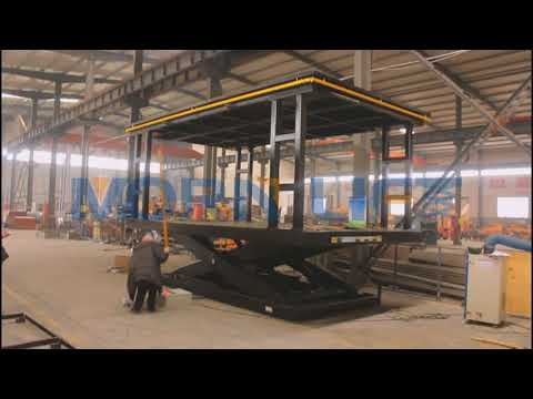 Double platforms stationary scissor lift for lifting cars from MORN LIFT