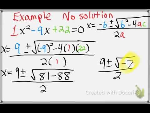 Algebra 1: 9-5 Solving Quadratic Equations with the Quadratic Formula