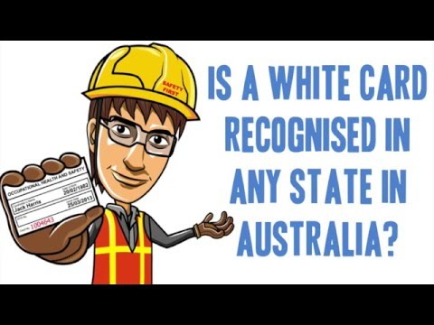 Is the White Card Safety Training Recognised Nationally?