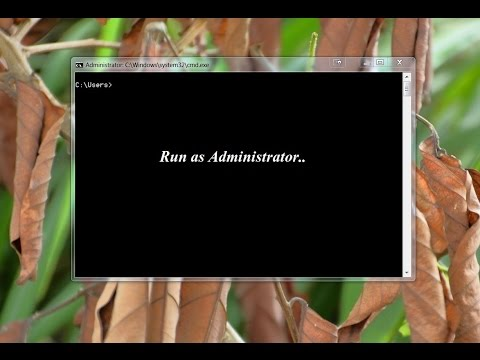 How to open or run command prompt as administrator in windows 7