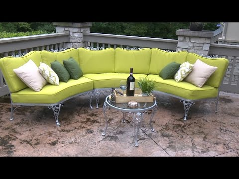How to Make Cushions for a Curved Patio Set