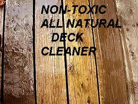 ALL-NATURAL, NON-TOXIC DECK Cleaner, baking soda,  no pressure washer, removes mold and mildew