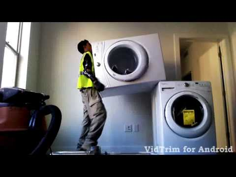 Skinny guy and stacking a washer and dryer