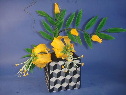 Цветы из мастики. Азиатские лилии. Asian Lily. Gumpaste flowers.