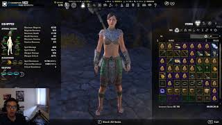 ESO - Magicka Nightblade Selfbuff test DPS (Breton/Dark Elf