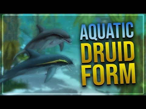 New Druid Aquatic Form   Glyph of the Dolphin   Battle for Azeroth!