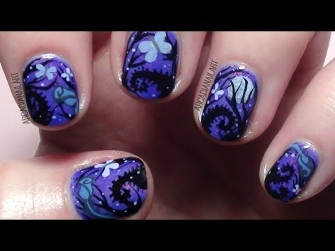 Tim Burton Nails - 'The Corpse Bride' Inspired Nail Art *Collaboration*