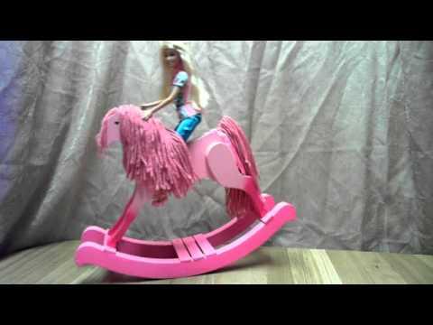 light pink rocking horse