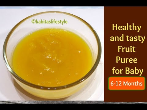 Sweet Potato recipe | Healthy fruit Puree for 6-12 months baby | Baby food recipe