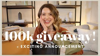 100K GIVEAWAY + EXCITING ANNOUNCEMENT! (This Video Might Not Be Up Long!)