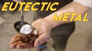 Pouring Molten Metal into Bare Hand